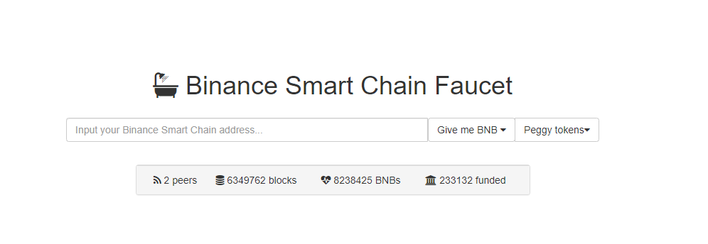 Deploy a contract to the Binance Smart Chain Faucet