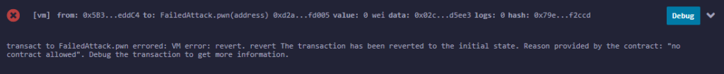 Bypass contract size check log failed no contract allowed. Bypass Solidity contract size check