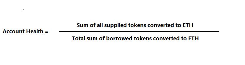 compound liquidation bot account health calculation