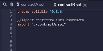 using import in solidity smart contract into remix