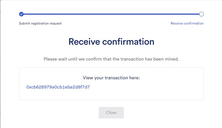 chain link keeper receive confirmation