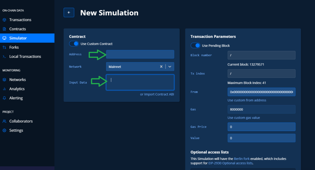 Simulate uniswap transaction